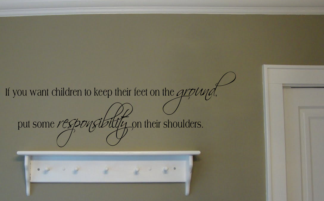 Put Some Responsibility On Shoulders Wall Decal