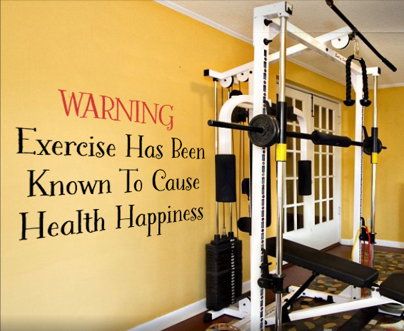 Health Happiness Wall Decal
