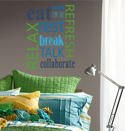 Healthy Word Collection Wall Decal