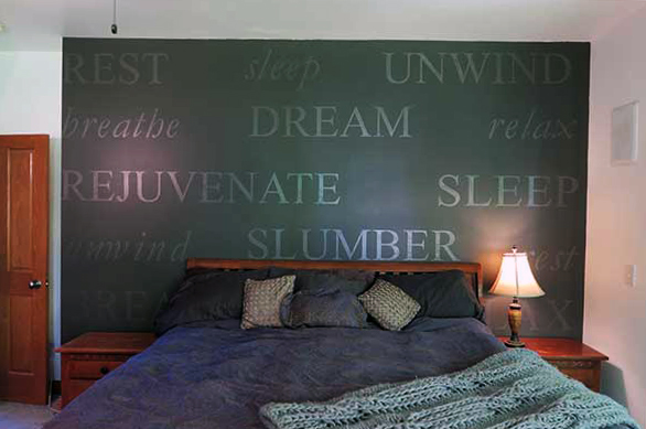 Bedroom Words Wall Decal