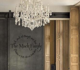 Family Circle Name Wall Decal