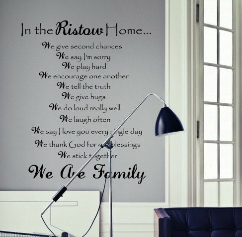 In The Home We Give We Say Wall Decal