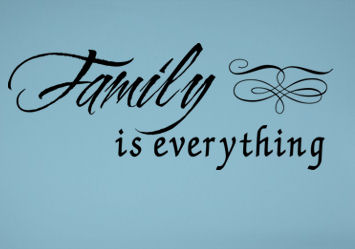 Family Is Everything Embellishment Wall Decal