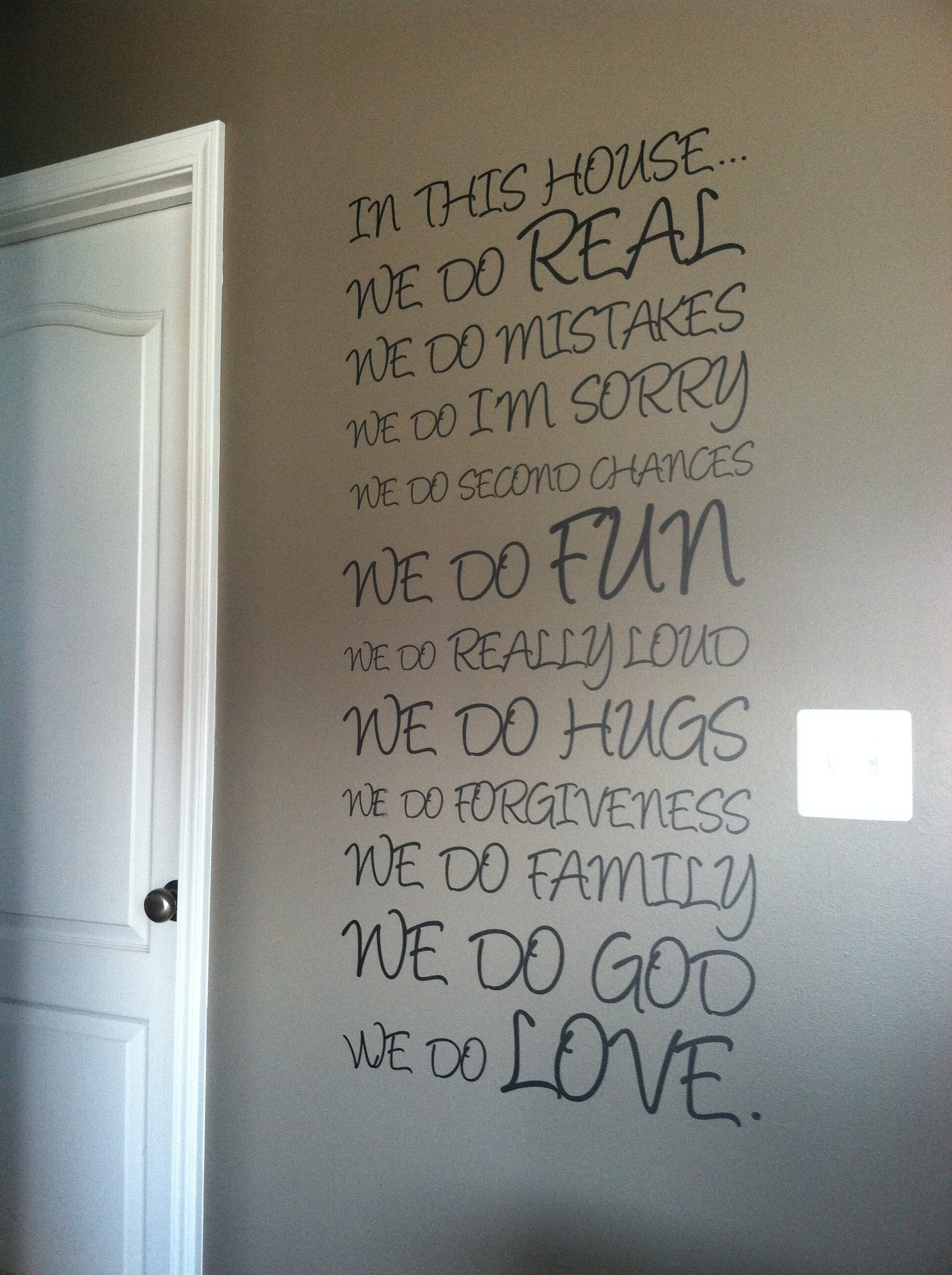 Angelina Font In This House Wall Decal