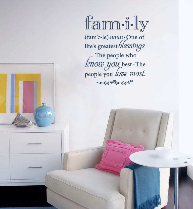 Family Definition Wall Decal