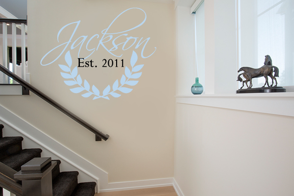 Family Wreath Wall Decal