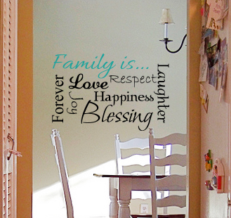 Family Is Subway Art Wall Decal