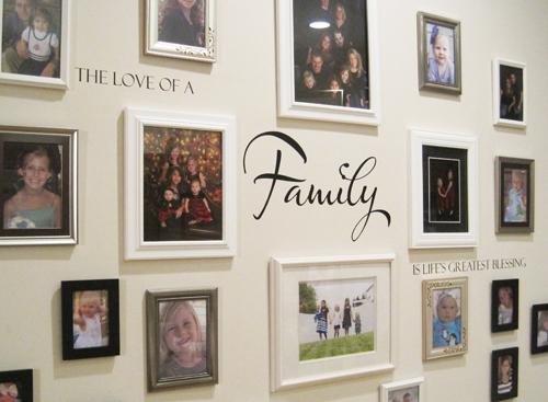 Love Of A Family Lifes Greatest Blessing Wall Decal