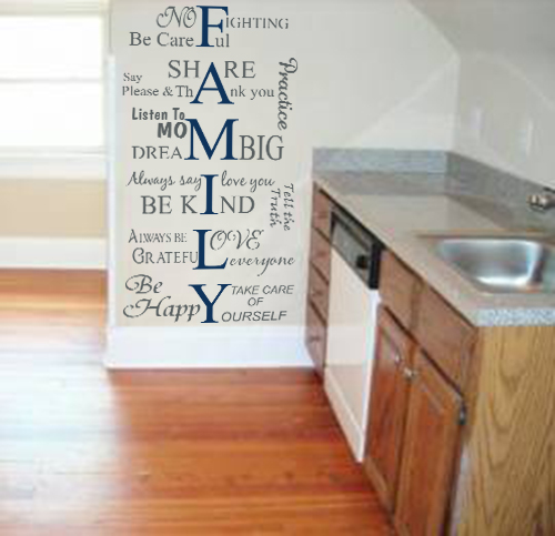 Family Values Wall Decal