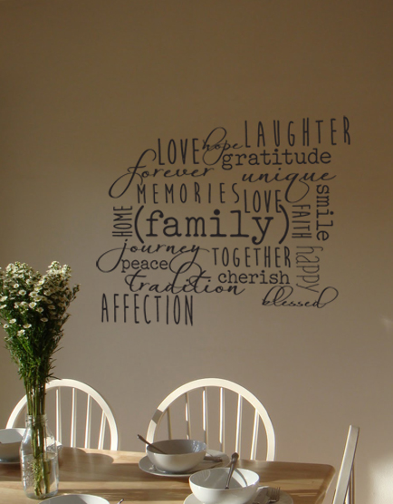 Family Words Cluster Decal