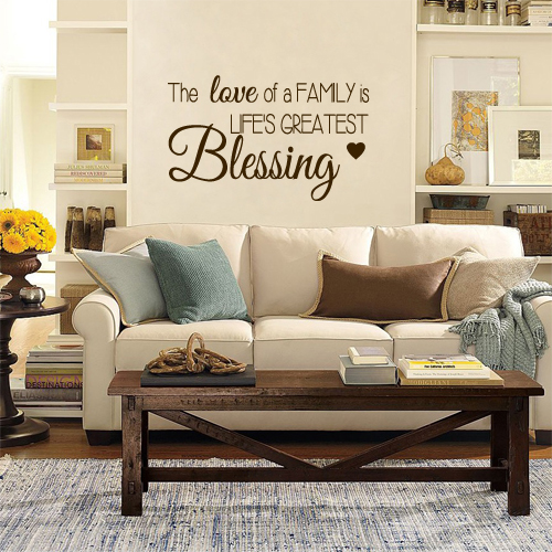 Love Family Blessing Wall Decal