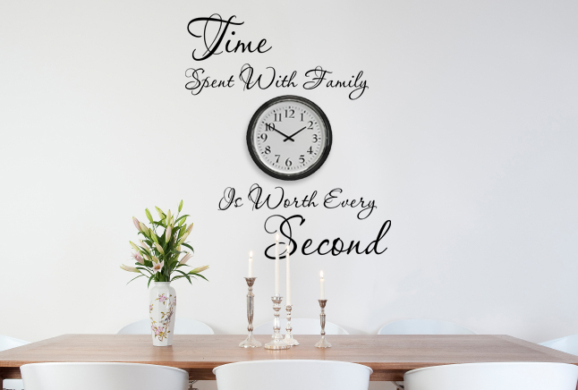 Worth Every Second Wall Decal