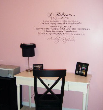 I Believe In Pink Multi Font Wall Decal