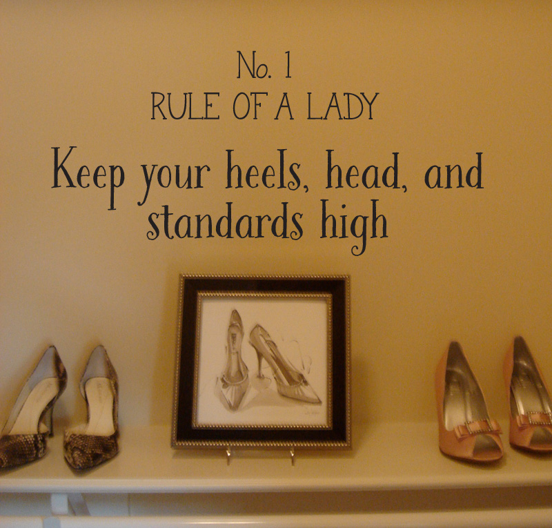 Rule of a Lady Wall Decal