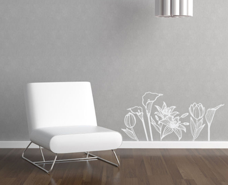 Mixed Flowers Wall Decal