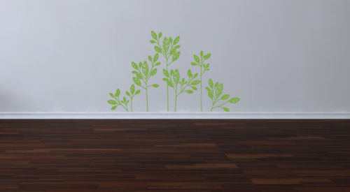 Woodcut Branches Wall Decal