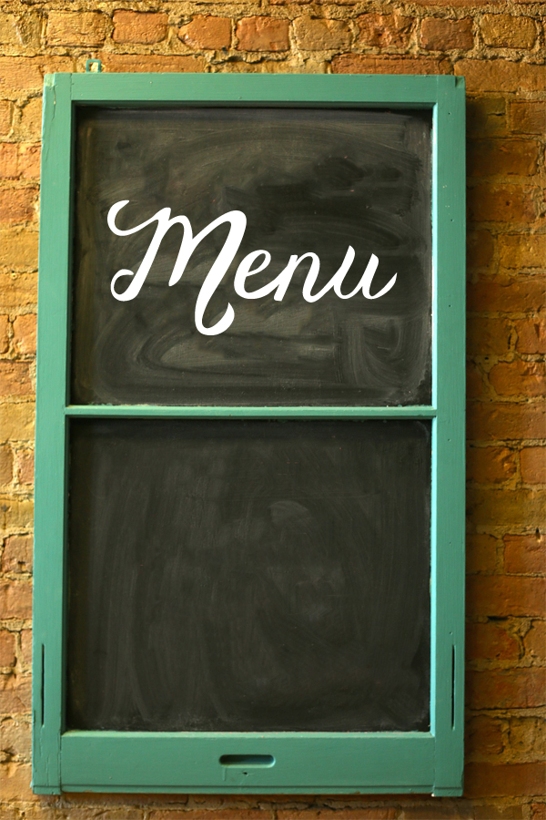 Menu Script Wall Decal
