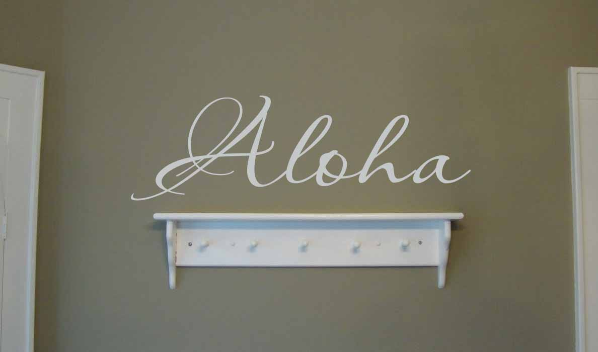 Script Aloha Wall Decal
