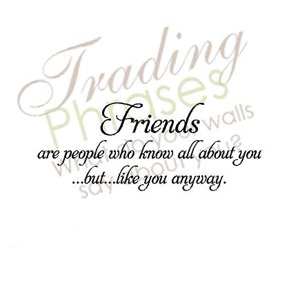 Friends Quote Wall Decal