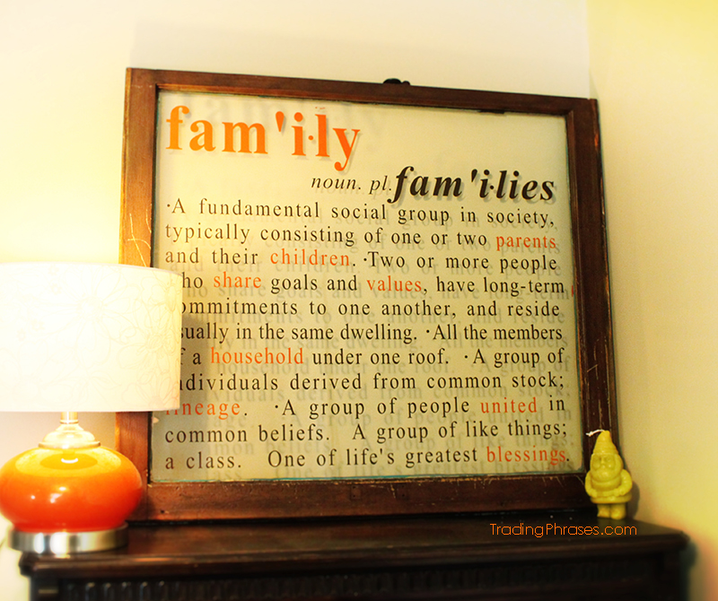 Definition of Family Wall Decal