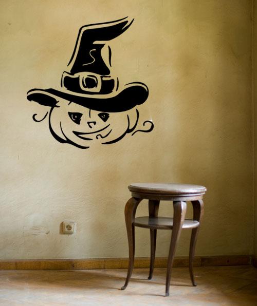 Pumpkin Witch Wall Decal