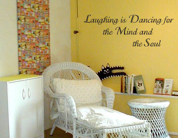 Laughing is Dancing Wall Decal