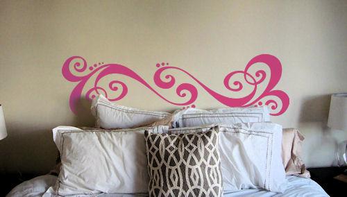 Whimsical Headboard Wall Decal