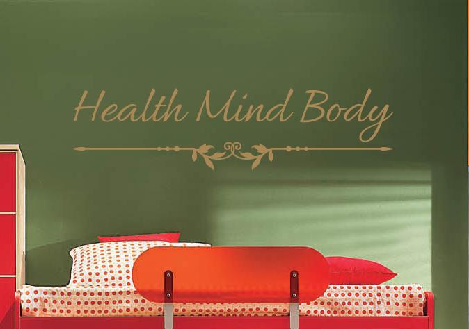 Health Mind Body Wall Decal