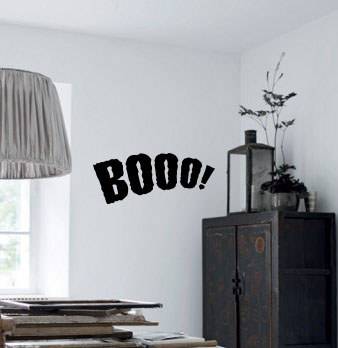Booo! Halloween Wall Decal