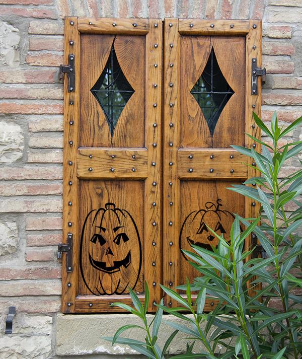 Friendly Pumpkin Set Halloween Wall Decal
