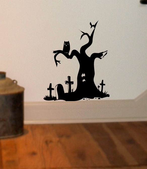 Grave Tree Halloween Wall Decal