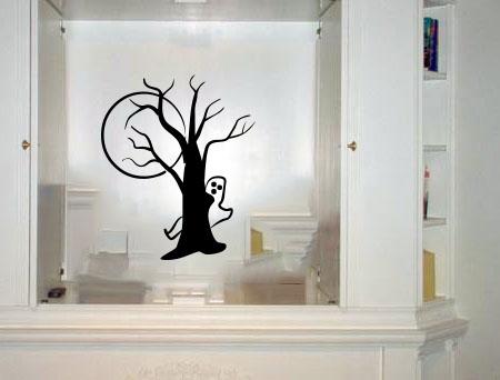 Ghost Tree Halloween Wall Decal