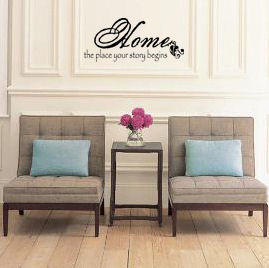 Home Your Story Begins Wall Decal