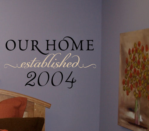 Our Home Established Year Wall Decal