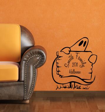 Family Halloween Wall Decal