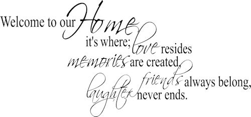 Welcome To Our Home Where Wall Decal