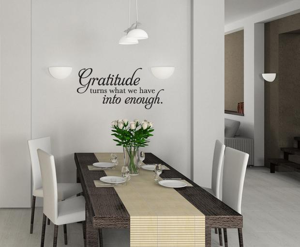 Gratitude Into Enough Wall Decal
