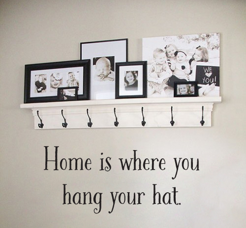 Hang Your Hat Wall Decal