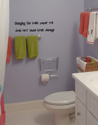 Changing the Toilet Paper Wall Decal
