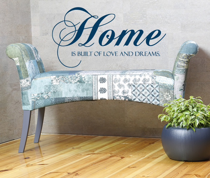 Home Love Dreams Wall Decal