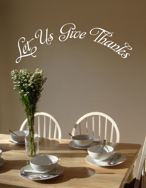 Give Thanks Arch Wall Decal