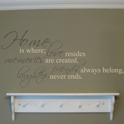 Home Is Where Love Multicolor Decal