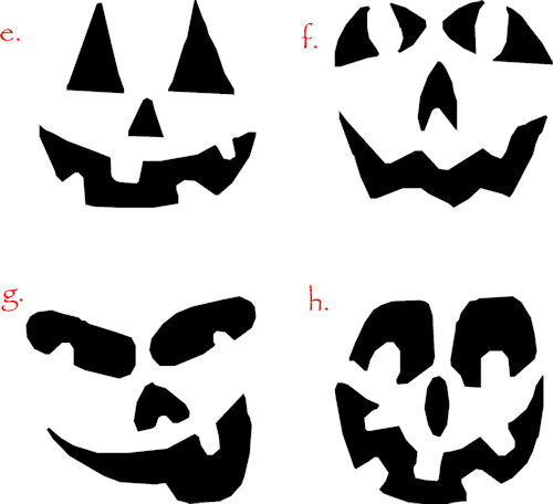 Pumpkin Faces II | Halloween Decals