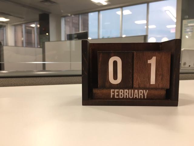 Calendar Block Letters Decal