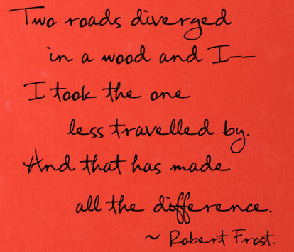 Frost Road Less Travelled Wall Decals