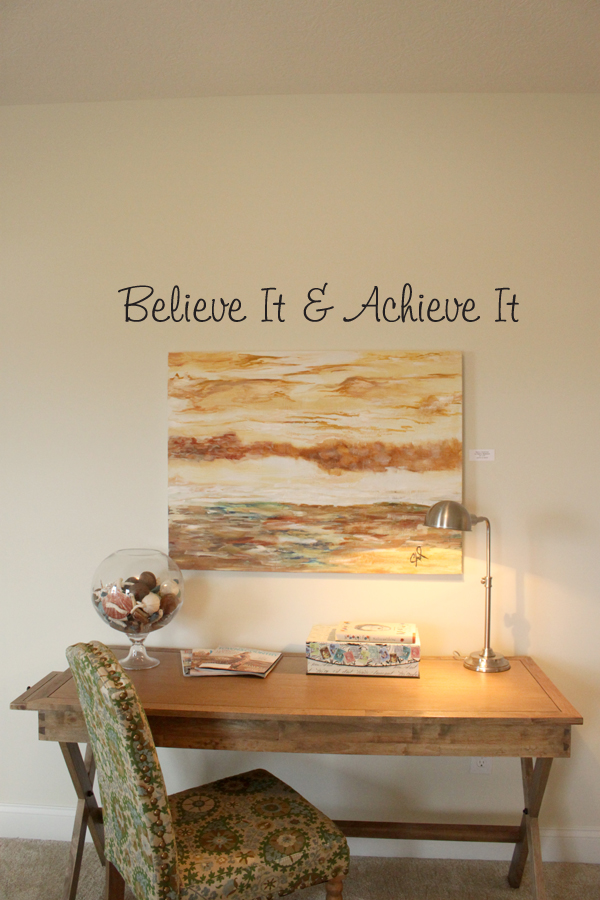 Believe It And Achieve It Wall Decal