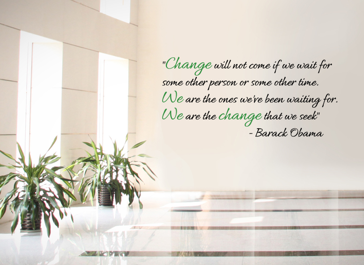 Obama Change Wall Decal
