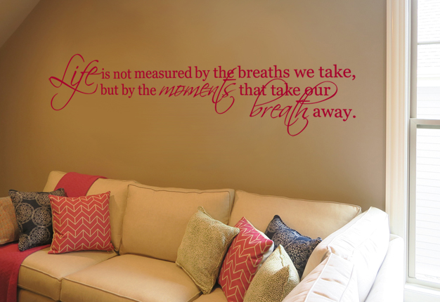 Take Breath Away Alternate Wall Decal