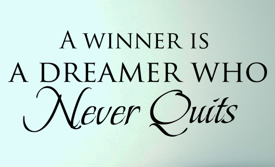 A Winner Is Wall Decal