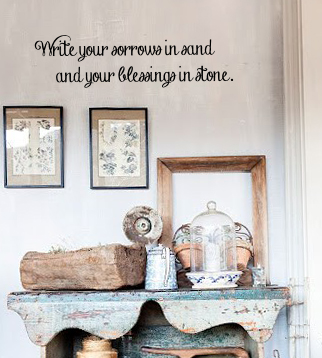 Sorrows in Sand Wall Decal